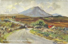 ART CARD - BY W.J. BURROWS - MOURNE MOUNTAINS FROM ANNALONG BRIDGE - COUNTY DOWN - Down