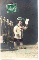 CPA  - Un Enfant Messager - Bonne Année - écrite - Portraits