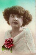 CPA  - Fillette Avec Une Rose - écrite - Portraits