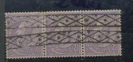52 Øroulette. Bande De 3 Ex.    2F Léopold II.   Cote 120,-euros - 1884-1891 Léopold II