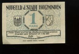 Notgeld.   Stadt HOLZMINDEN. 1 Mark Mai 1922. Cavalier. Uniforme - [ 3] 1918-1933: Weimarrepubliek