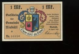 Notgeld.   Stadt Niebüll 1 Mark Mai 1922. Femme Au Rouet.  Laine. Woll.  SUPERBE Aucun Pli - [ 3] 1918-1933 : République De Weimar