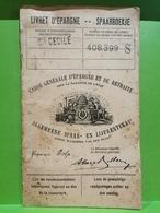 Livret D'épargne, Ste Cécile Et Virton Avec Timbres, 1945 - Errors And Oddities