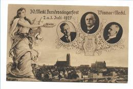 U9830/ Wismar 30. Meckl. Bundessängerfest 1927 AK  - Non Classificati