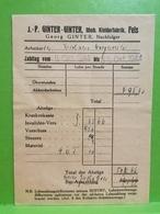 Enveloppe, J. P. Ginter-Ginter, Mech. Kleiderfabrik. Fels Larochette 1944 - Larochette