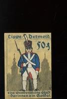 Notgeld.   Stadt Lippe - Detmold. 50 Pfg   Soldat    SUPERBE Aucun Pli - [ 3] 1918-1933 : République De Weimar