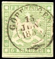 1857, Altdeutschland Württemberg, 8 A, Gest. - Wurtemberg