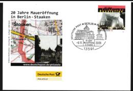 Germany Cover Berlin 2009 20 Jahre Maueröffnung In Staaken (G110-1) - Cartas