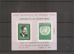 Dag Hammarskjold ( BF 26 XXX -MNh- Du Panama) - Dag Hammarskjöld
