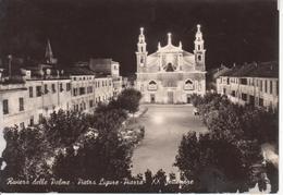 PIETRA LIGURE - PIAZZA XX SETTEMBRE - NOTTURNO - VIAGGIATA 1955 - Italie