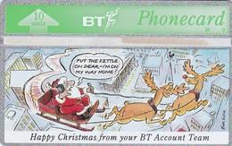 United Kingdom, BTI-041, BT Accounts Team - Christmas 1992.  CN : 271E  , 2 Scans - Christmas