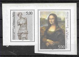 FRANCE 3234 Et 3235 Exposition Philatélique Philexfrance 99 La Vénus De Milo Et La Joconde Chefs-d'oeuvre De L'Art  . - France