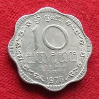 Sri Lanka 10 Cents 1978 KM# 140a - Sri Lanka