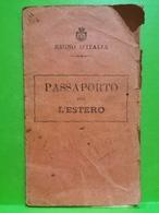 Passeport, Passaporto. Regno D'italia . Comune Di Barisciano. Provincial D'aquila Avec Timbre - Documents Historiques