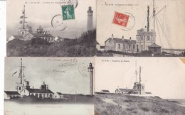 L027.....4 CPA ILE DE RE ...SEMAPHORES - 5 - 99 Postkaarten