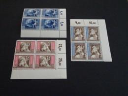 K30650 -4 Sets In Bloc  MNH Deutsches Reich  1942  - SC. B209-211 - European Postal Congress - Vienna - Ungebraucht