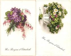 Etterbeek : Un Bonjour D'Etterbeek ----- 2 Cp ----fleurs / Flowers / Bloemen - Etterbeek