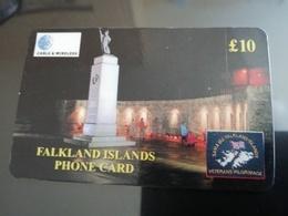 FALKLAND ISLANDS   10 Pound  LIBERATION MONUMENT  PREPAID  New  Logo C&W **675** - Isole Falkland
