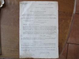 CAMBRAI LE 6 AOUT 1941 LE SOUS PREFET KREISKOMMANDANTUR 692 ARRACHAGE DES PLANTES PARASITAIRES CHARDONS ET TUSSILAGES - Documents Historiques