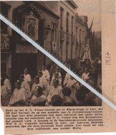 LIER,,1937.. ZICHT OP HET O.L. VROUW-BEELDJE UIT DE KLUIZENSTRAAT 100 JARIG BESTAAN/ ROZENKRANSPROCESSIE - Vieux Papiers