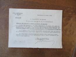 CAMBRAI LE 4 AVRIL 1942 LE SOUS PREFET REUNION DES MAIRES A L'HÔTEL DE VILLE DE CAMBRAI CULTURE DU BLE - Documents Historiques