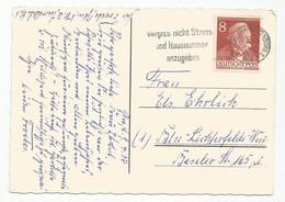 Germany Deutschland Berlin West Mi.94 On Postcard 1954 - Cartas