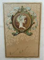 CPA Fantaisie Médaillon Femme Art Nouveau - Fantasia