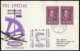 1956, Belgien, Brief - Zonder Classificatie