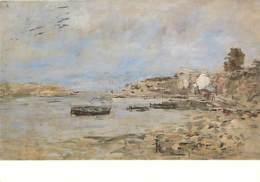 Art - Peinture - Eugène Boudin - Les Barques à Douarnenez - Voir Scans Recto-Verso - Pintura & Cuadros