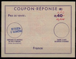 FRANCE Reply Coupon Reponse (E) Ex10 Antwortschein IAS 0,60 / 0,50 / 0,40 issued ST. OUEN L'AUMONE - Coupons-réponse