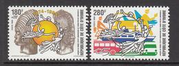 1998 Cote D'Ivoire Ivory Coast UPU Complete Set Of 2 MNH - Ivory Coast (1960-...)