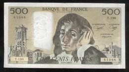 Billet 500 Francs France Pascal 2-6-1983.F. - 1962-1997 ''Francs''