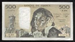 Billet 500 Francs France Pascal 5-1-1984.K. - 1962-1997 ''Francs''