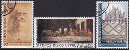 Cyprus 1981 SG #569-71 Compl.set Used Leonardo Da Vinci's Visit - Cyprus (Republic)
