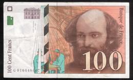 Billet 100 Francs France Cézanne 1997 Lettre G - 1992-2000 Ultima Gama