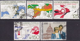 Cyprus 1981 SG #576-80 Compl.set Used Anniversaries And Events - Cyprus (Republic)