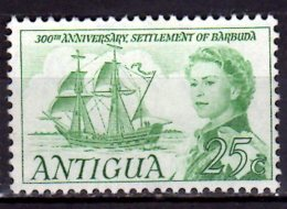 1967 Antigua 300 Years Of Barbuda Setttment MNH** MiNr. 186  Ship Sail Bark Susan Constant - Schiffe