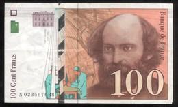Billet 100 Francs France Cézanne 1997 Lettre N - 1992-2000 Ultima Gama