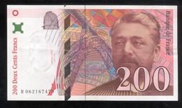 Billet 200 Francs France Eiffel 1997 Lettre R - 1992-2000 Dernière Gamme