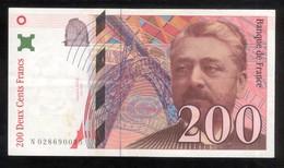 Billet 200 Francs France Eiffel 1996 Lettre N - 1992-2000 Dernière Gamme