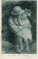 """Cartolina Per Corrispondenza Con I SOLDATI - """"Le Gioie Del Ritorno"""" - FORMATO PICCOLO - (rif. Q82) - Patriottisch"""