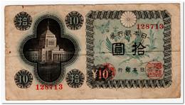 JAPAN,10 YEN,1946,P.87,F - Japan