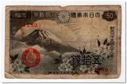 JAPAN,50 SEN,1938,P.58,aF - Japan