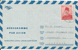 Indonesia Aerogramme Sent To Denmark 25-5-1985 - Indonesia