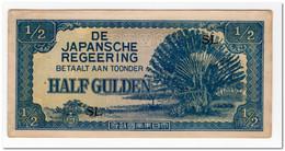 NETHERLANDS INDIES,1/2 GULDEN,1942,P.122b,AU - Japan