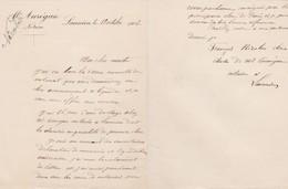 LANNION MR AUREGAN NOTAIRE PETITE LETTRE DOUBLE DE MR FRANCOIS NICOLAS CLERC DE NOTAIRE ANNEE 1902 - Non Classés