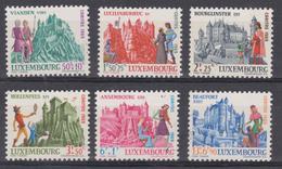 Luxembourg 1969 - N°748/53 XX - Châteaux I - Vianden,Lucilinburhuc,Bourglinster,Hollenfels,Ansembourg,Beaufort - Ungebraucht