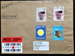 """Argentina, Registered Circulated Cover To Portugal,""""Pottery Culture"""", """"Revolutions"""", 2010 - Storia Postale"""