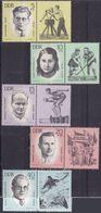 Germany DDR 725/29 - Resistance Heroes 1963 - MNH - Celebrità