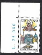 Italia 1994; Celebrazioni Lauretane: Basilica Di Loreto + Madonna Con Bambino; Angolo Superiore - 1991-00:  Nuovi